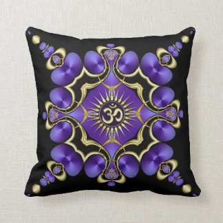 OM Yoga Arts Golden Purple Cushion