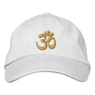OM Yoga Chakra Gold or customize it Embroidery Embroidered Baseball Cap
