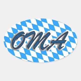 Oma Bierkrug Oval Sticker
