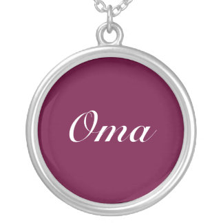 Oma Dark Purple Silver Plated Necklace
