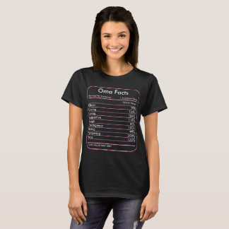 Oma Facts Servings Per Container Tshirt