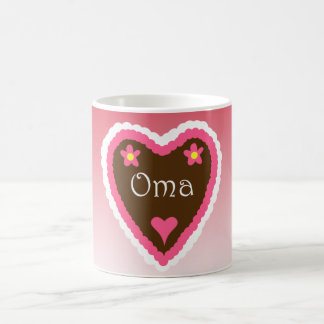 Oma Lebkuchenherz German Grandma Gingerbread Heart Coffee Mug