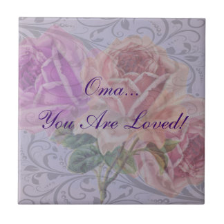 "Oma ""Oma You Are Loved!"" Tile"