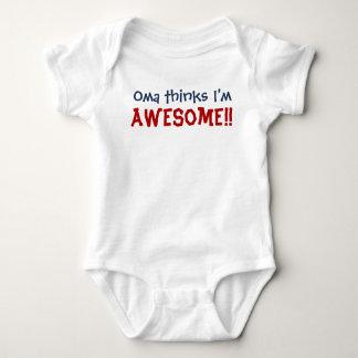 Oma Thinks I'm Awesome! Baby Infant Bodysuit