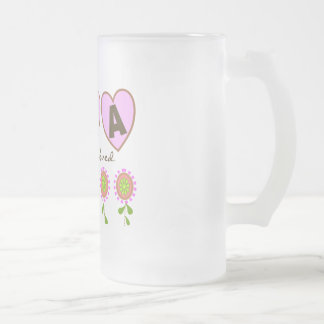 """Oma You Are Loved""---Mother's Day Gifts 16 Oz Frosted Glass Beer Mug"