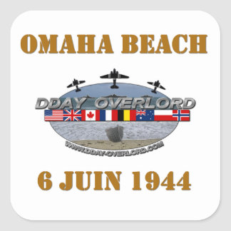 Omaha Beach 1944 Square Sticker