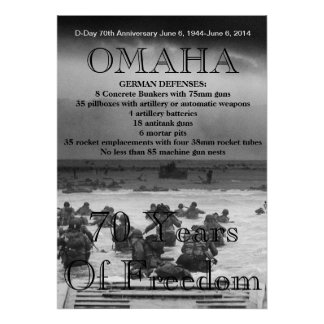 Omaha D-Day 70th Poster