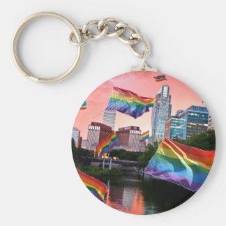 Omaha, NE Flying Pride Keychain