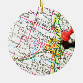 Omaha, Nebraska Ceramic Ornament