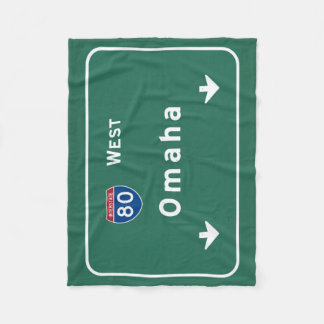 Omaha Nebraska ne Interstate Highway Freeway : Fleece Blanket