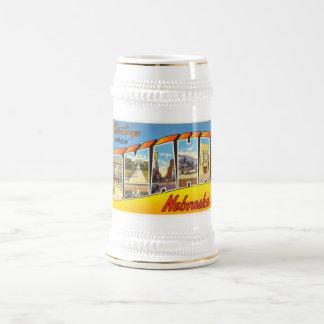 Omaha Nebraska NE Old Vintage Travel Souvenir Beer Stein