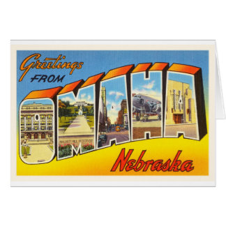 Omaha Nebraska NE Old Vintage Travel Souvenir Card
