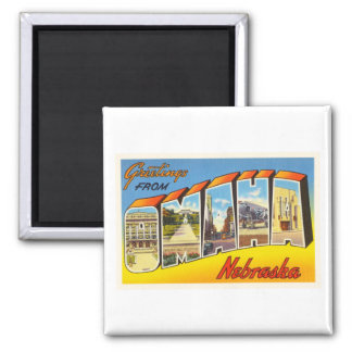 Omaha Nebraska NE Old Vintage Travel Souvenir Magnet