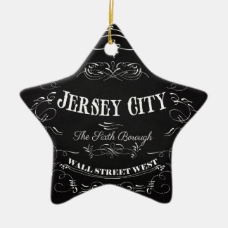 Omaha, Nebraska - The Big Ceramic Star Ornament