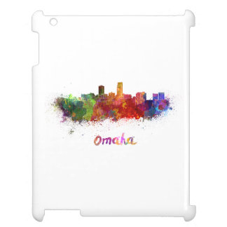 Omaha skyline in watercolor cover for the iPad 2 3 4
