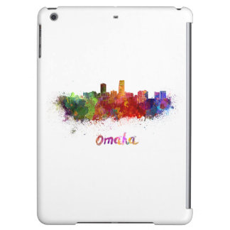 Omaha skyline in watercolor iPad air cover