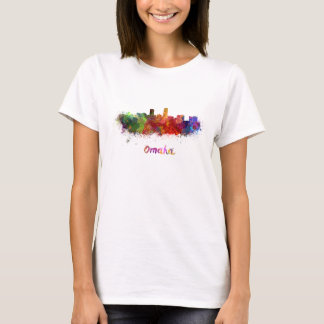 Omaha skyline in watercolor T-Shirt