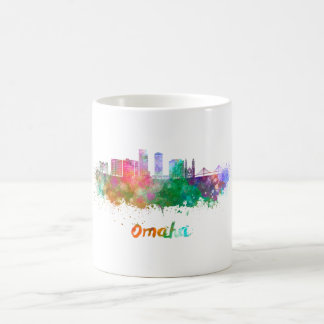 Omaha V2 skyline in watercolor Coffee Mug