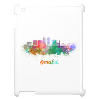 Omaha V2 skyline in watercolor Cover For The iPad