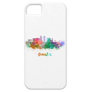 Omaha V2 skyline in watercolor iPhone 5 Cover