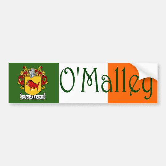 O'Malley Coat of Arms Flag Bumper Sticker