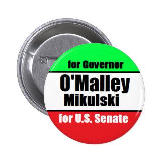 O'Malley Mikulski Button