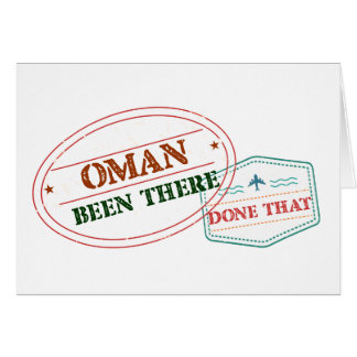 Oman Been There Done That Card