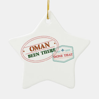 Oman Been There Done That Ceramic Ornament