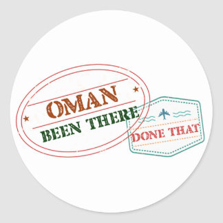 Oman Been There Done That Classic Round Sticker