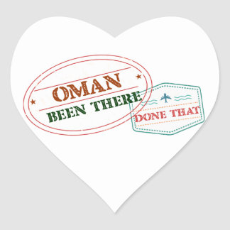Oman Been There Done That Heart Sticker
