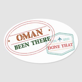 Oman Been There Done That Oval Sticker