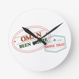 Oman Been There Done That Round Clock