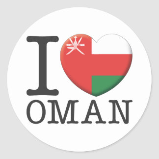 Oman Classic Round Sticker