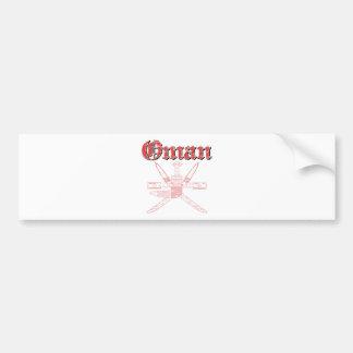 Oman coat of arms designs bumper sticker