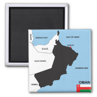 oman country political map flag district region fridge magnets