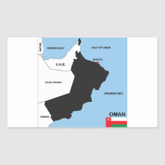 oman country political map flag district region rectangle stickers