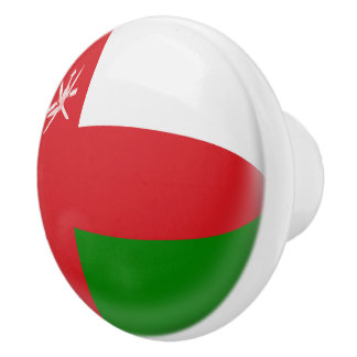Oman Flag Ceramic Knob