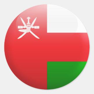 Oman Flag Classic Round Sticker
