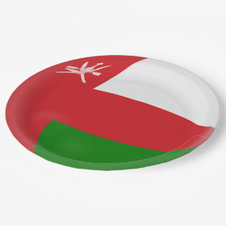 Oman Flag Paper Plate