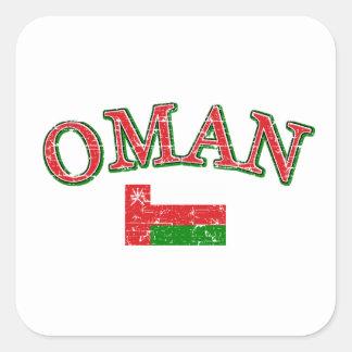 Oman football design square sticker