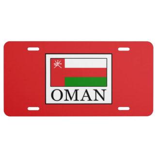 Oman License Plate