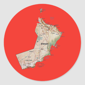 Oman Map Sticker