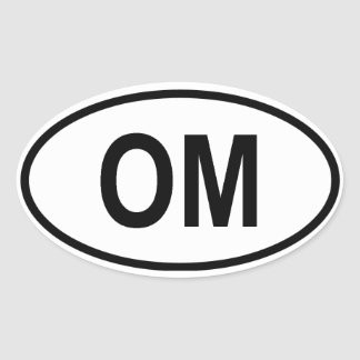 "Oman ""OM"" Oval Sticker"