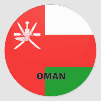 Oman Roundel quality Flag Classic Round Sticker