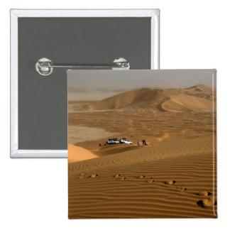Oman, Rub Al Khali desert, driving on the dunes 2 Inch Square Button