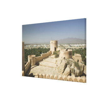 Oman, The Batinah Plain, Nakhal. Nakhal Fort, at Stretched Canvas Prints