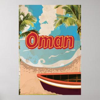 Oman Vintage Travel Poster