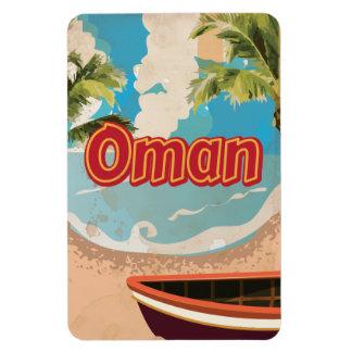 Oman Vintage Travel Poster Magnet