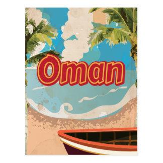 Oman Vintage Travel Poster Postcard