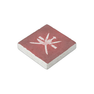 Omani coat of arms stone magnets